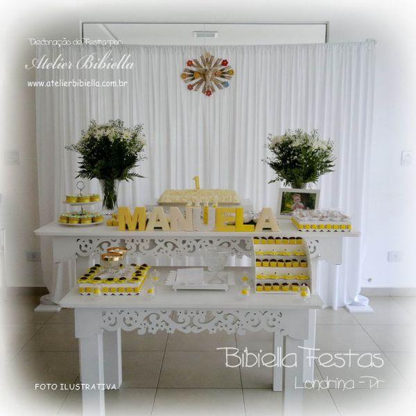 Decora o sem tema mesa dupla floral cortina mdf vidro - Temas mobiliario ...