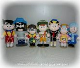 TURMA DO CHAVES KIT 7 PERSONAGENS 25~30 CM